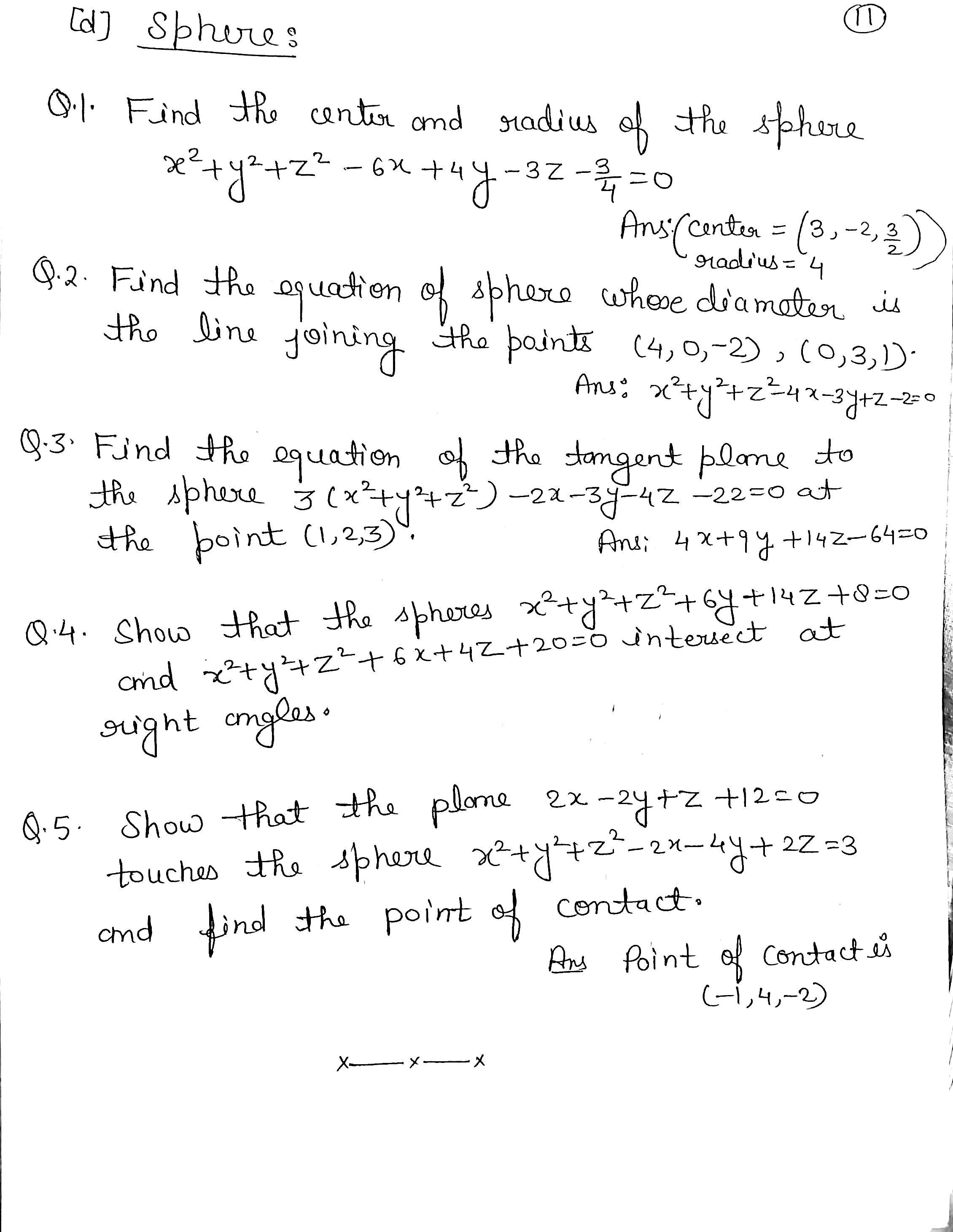 3D Coordinate Geometry (Practice Questions) | Tutorials on ...